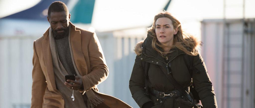 Alex (Kate Winslet) e Ben (Idris Elba) em Depois Daquela Montanha
