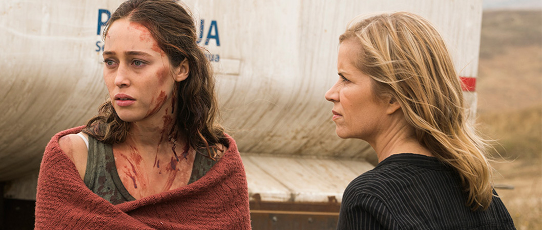 Kim Dickens (Madison Clark) e Alycia Debnam-Carey (Alicia Clark) na 3ª temporada de Fear The Walking Dead