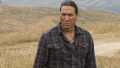 Michael Greyeyes (Qaletqa) na 3ª temporada de Fear The Walking Dead