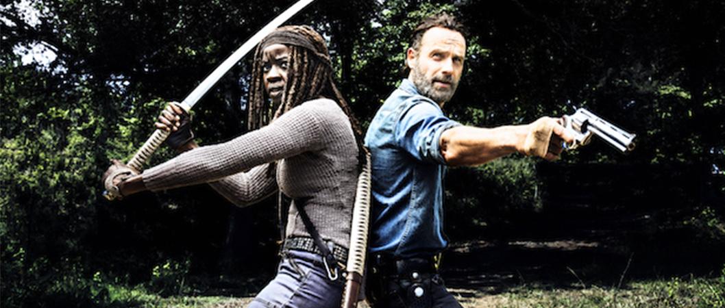 Michone (Danai Gurira) e Rick (Andrew Lincoln) em imagem promocional da 8ª temporada de The Walking Dead