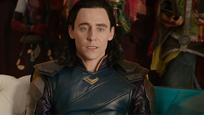 Loki (Tom Hiddleston) em Thor: Ragnarok