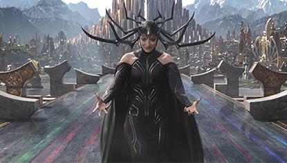 Hela (Cate Blanchett), a Deusa da Morte, em Thor: Ragnarok