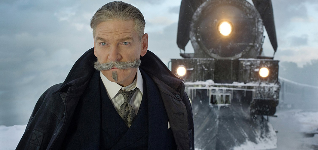 Kenneth Branagh como Hercule Poirot em Assassinato no Expresso do Oriente