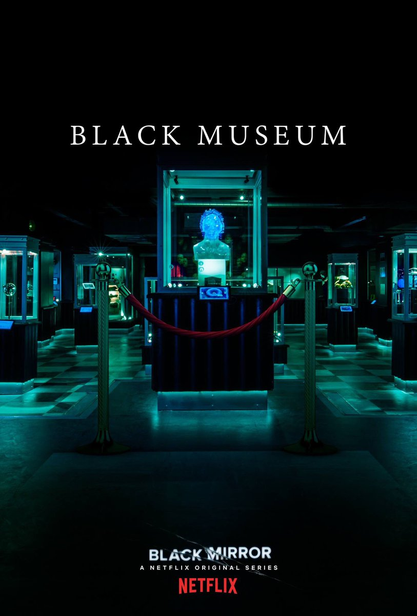 Pôster do episódio Black Museum da 4ª temporada de Black Mirror