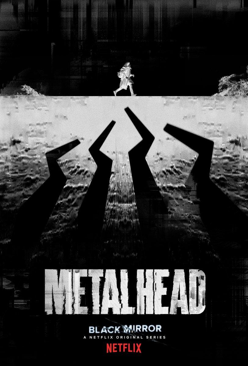 Pôster do episódio Metalhead da 4ª temporada de Black Mirror