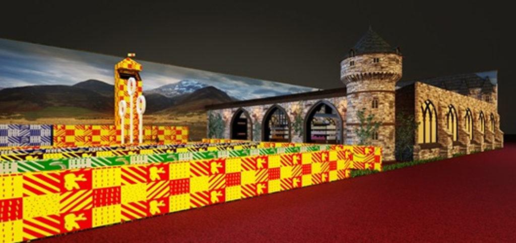 Projeto 3D de como será a Loja Harry Potter na CCXP 2017