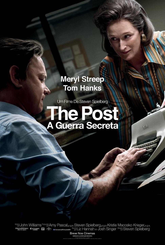 Meryl Streep e Tom Hanks no cartaz nacional de The Post - A Guerra Secreta