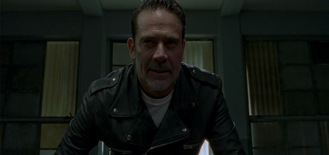 Jeffrey Dean Morgan como Negan na 8ª temporada de The Walking Dead