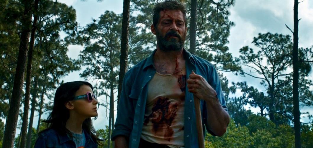 X-23 (Dafne Keen) e Logan (Hugh Jackman) em Logan