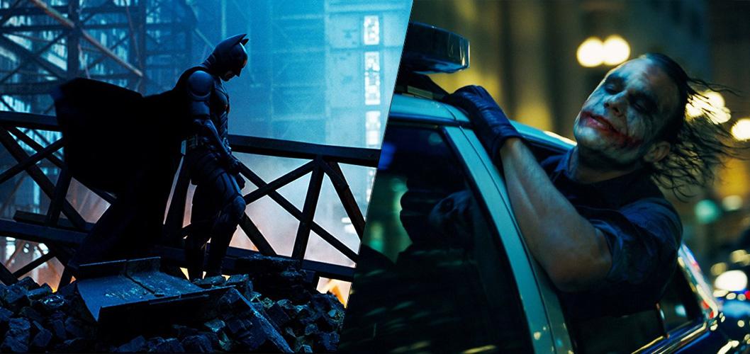 Batman e Coringa em Batman - O Cavaleiro das Trevas