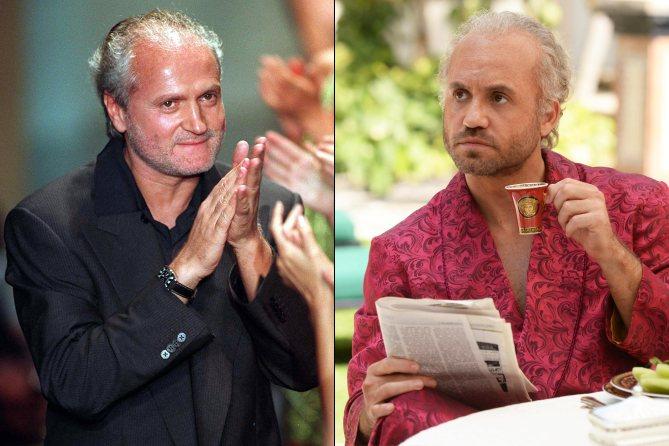 Edgar Ramirez (direita)como Gianni Versace (esquerda)