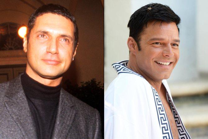 Ricky Martin (direita) como Antonio D'Amico (esquerda)