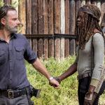 Andrew Lincoln e Danai Gurira em The Walking Dead