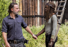 Andrew Lincoln e Danai Gurira em The Walking Dead