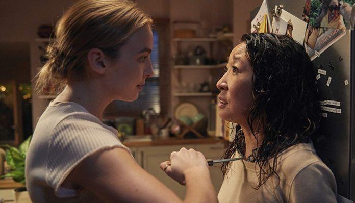 Jodie Comer e Sandra Oh em Killing Eve