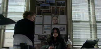 Krysten Ritter e Rachel Taylor como Jessica Jones e Trish Walker na 3ª temporada de Jessica Jones