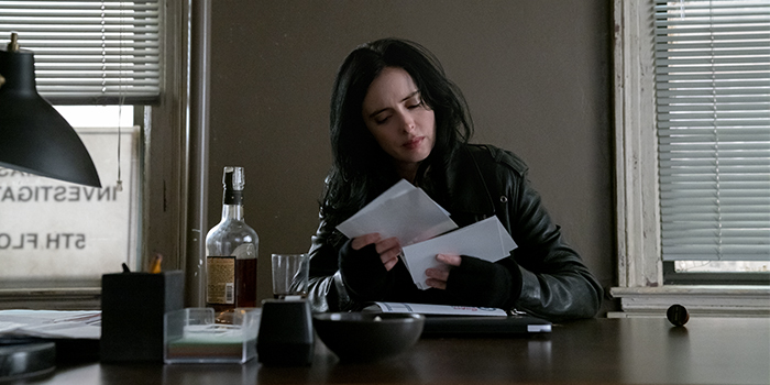 Krysten Ritter como Jessica Jones na 3ª temporada de Jessica Jones