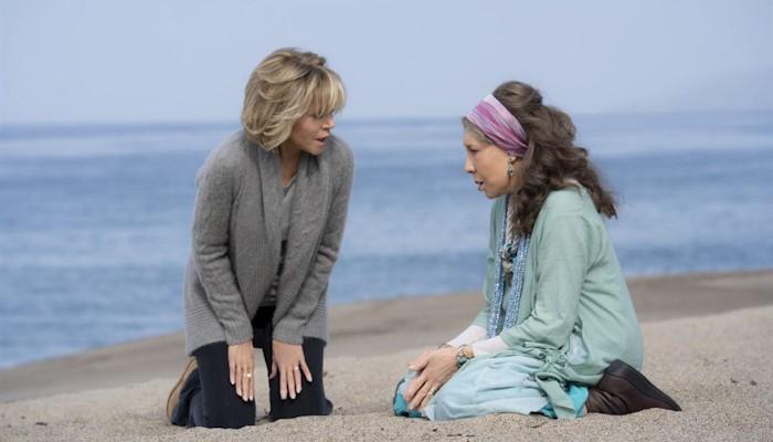 Lily tomlin e jane fonda em Grace Frankie